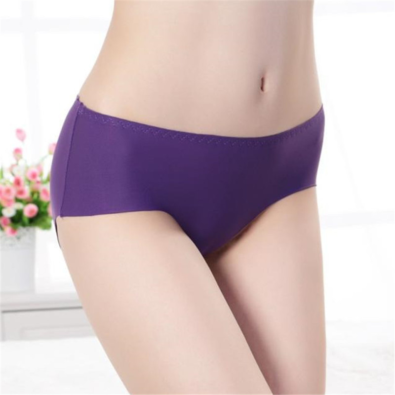 Buy 13PCS/Lot Women Underwear Briefs Female Ice Silk Seamless Knickers Ladies Low waist Lingerie Panties Calcinha Intimate Briefs