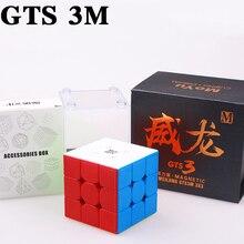 Moyu weilong GTS 3 м 3X3x3 Магнитный куб GTS 3 скоростной куб profIssional puzzle кубик Moyu Магнит Волшебные кубики игрушки для детей