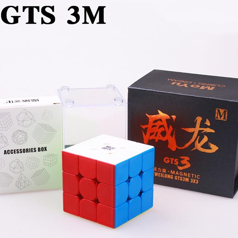 MOYU Weilong GTS 3 m 3X3x3 Magnétique Cube GTS3 Vitesse Cube Profissional Puzzle Aimant Magique Cubes jouets Pour Enfants Moyu Neo Cube