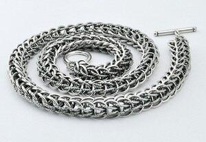 Image 5 - Hommes Dragon pendentif collier Vintage bijoux Punk mode 10 mm 56 cm 100% 925 en argent Sterling collier solide argent homme cadeau