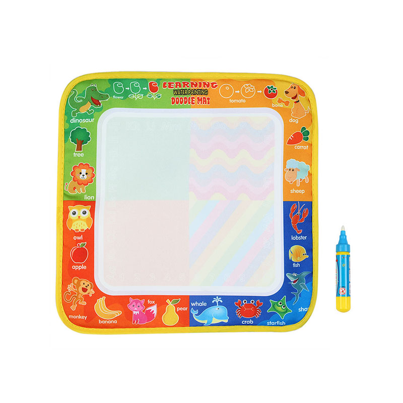 29*29cm Magic Water Drawing Board With Water Pen Non-toxic  Painting Doodle Mat For Children Early Education Drawing Toy }