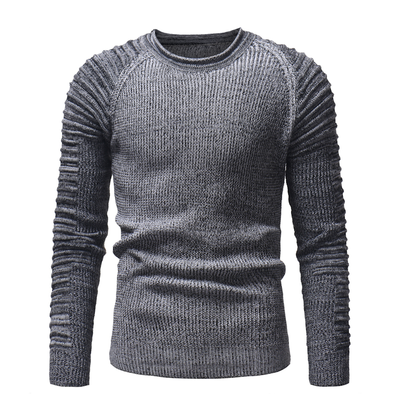 Mens sweaters 2018 winter casual Sweater pullover men's autumn round neck patchwork quality knit brand men's sweater size M-3XL