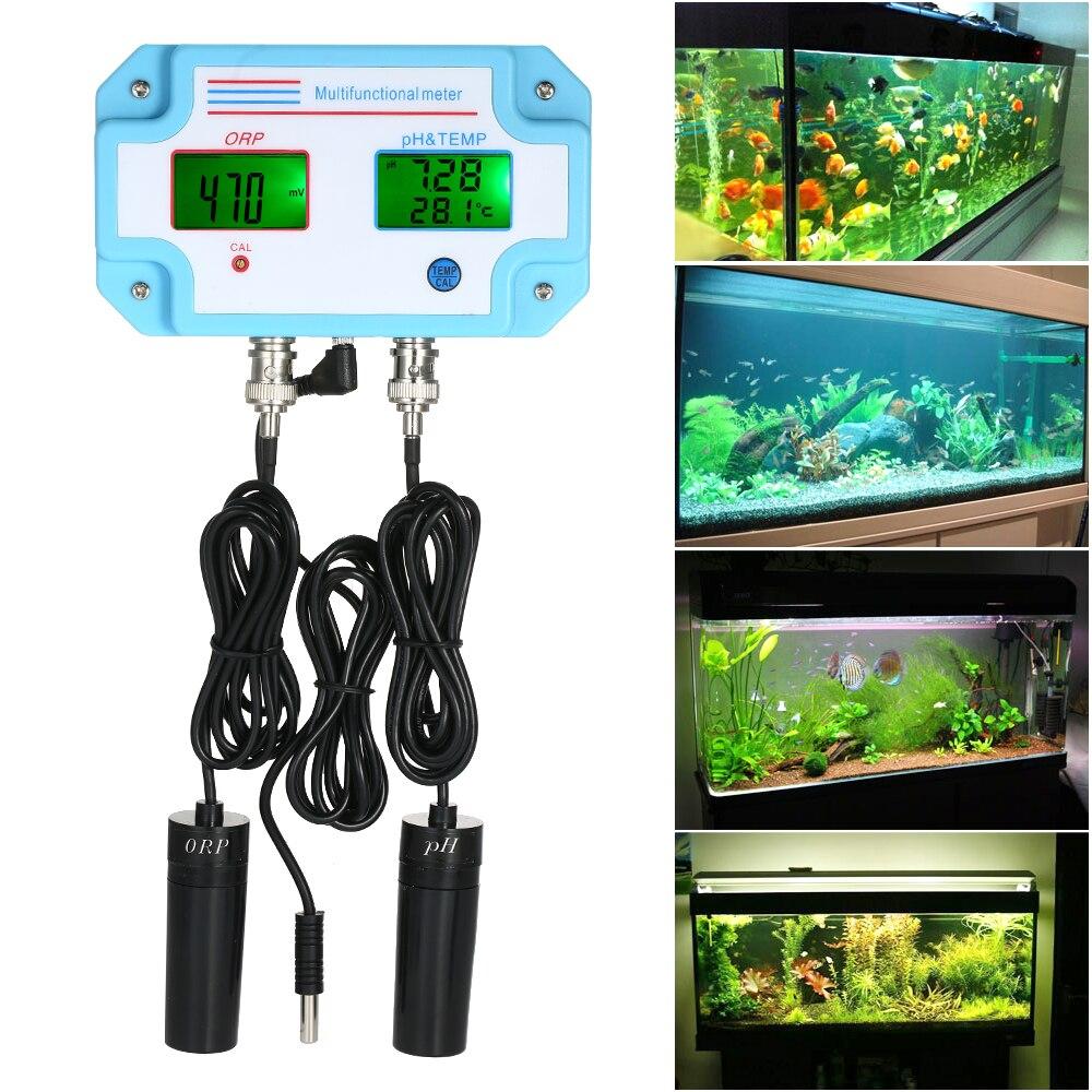 3 en 1 eau pH/ORP/TEMP mètre testeur de qualité de l'eau multi paramètres numérique détecteur d'eau LCD mètre moniteur de qualité de l'eau - 3