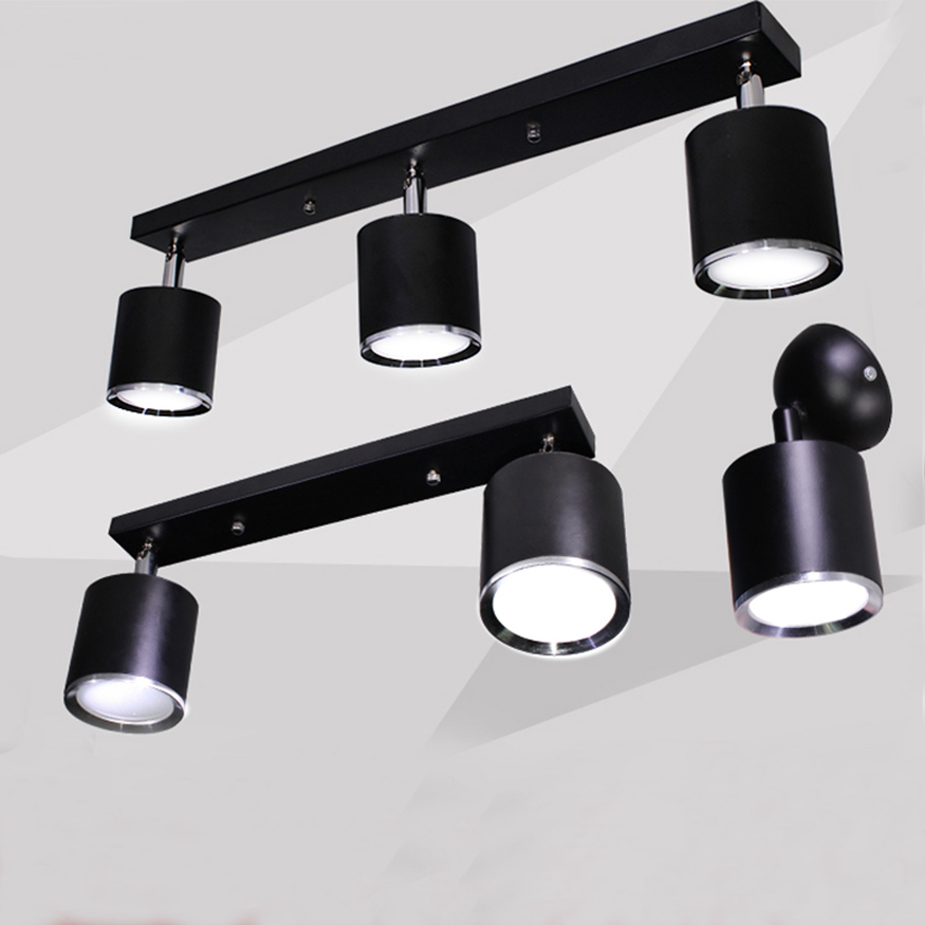 ceiling lamp for dressing room - Black white surface mounted ceiling lamp,1-4 arm LED spotlight/floodlight,dressing room/restaurant/colothing store spotlights