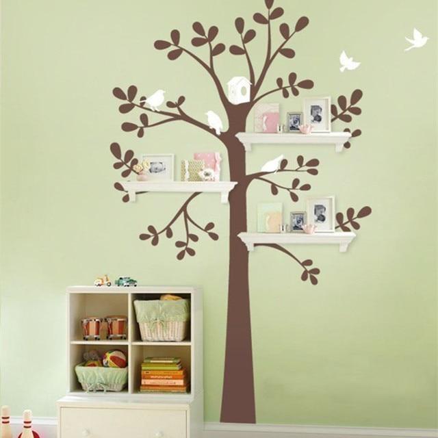 Regal Baum regal baum mit decals baum vinyl wandaufkleber steuern dekor baby