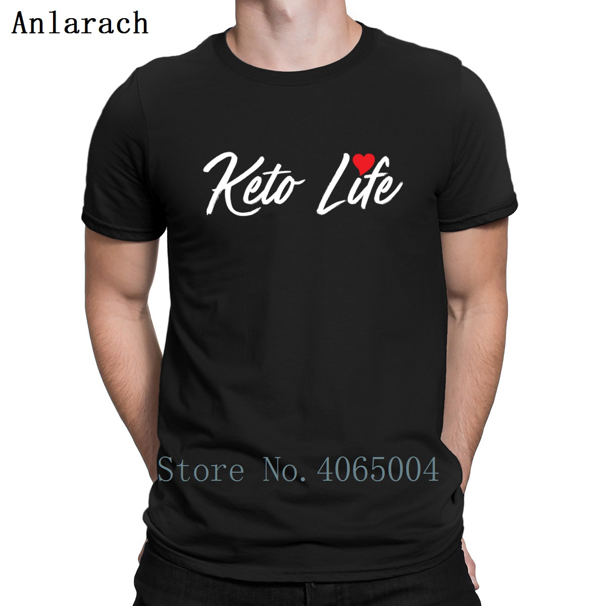 Keto Life Ketogenic Diet Funny Keto Hate Carbs T Shirt Spring Autumn Kawaii Kawaii Character Round Neck Fit Cotton Shirt