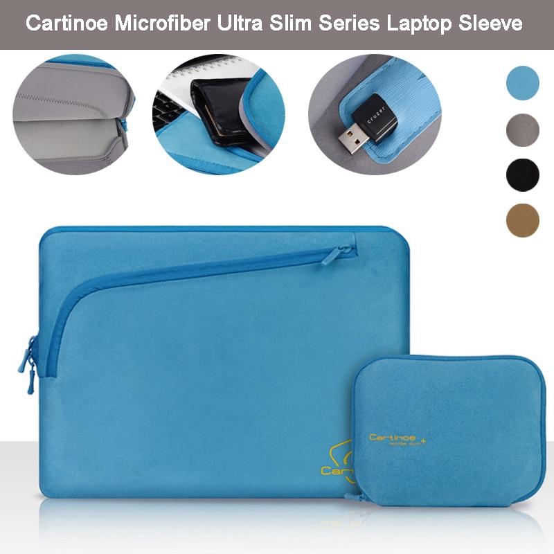 Cartinoe Brand Neoprene Slim Laptop Sleeve Case Bag Cover + Accessory Bag for Apple Macbook Air 11 12/ Pro Retina 13 15 inch