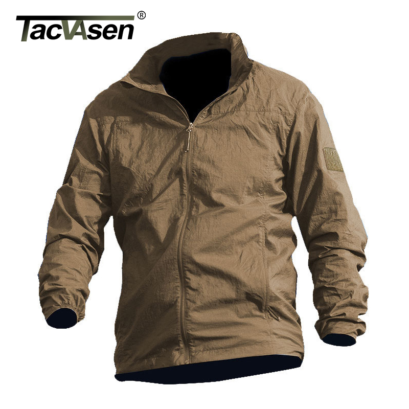 Image 3 - TACVASEN Summer Waterproof Quick Dry Tactical Skin Jacket Men Hooded Raincoat Thin Windbreaker Army Military Jacket TD QZJL 013army military jacketmilitary jacketjacket men -