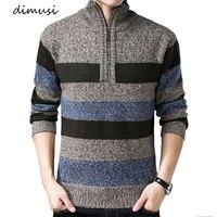 DIMUSI осенне-зимние мужские свитера из искусственного меха, шерстяные свитера, мужские вязаные толстые пальто на молнии, Повседневный трикот...