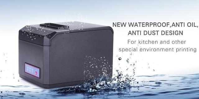 POS Принтер 80 мм Тепловая Чековый Принтер 1D/2D С Lan + USB + Wi-Fi POSEH80300 С Автоматическим резаком