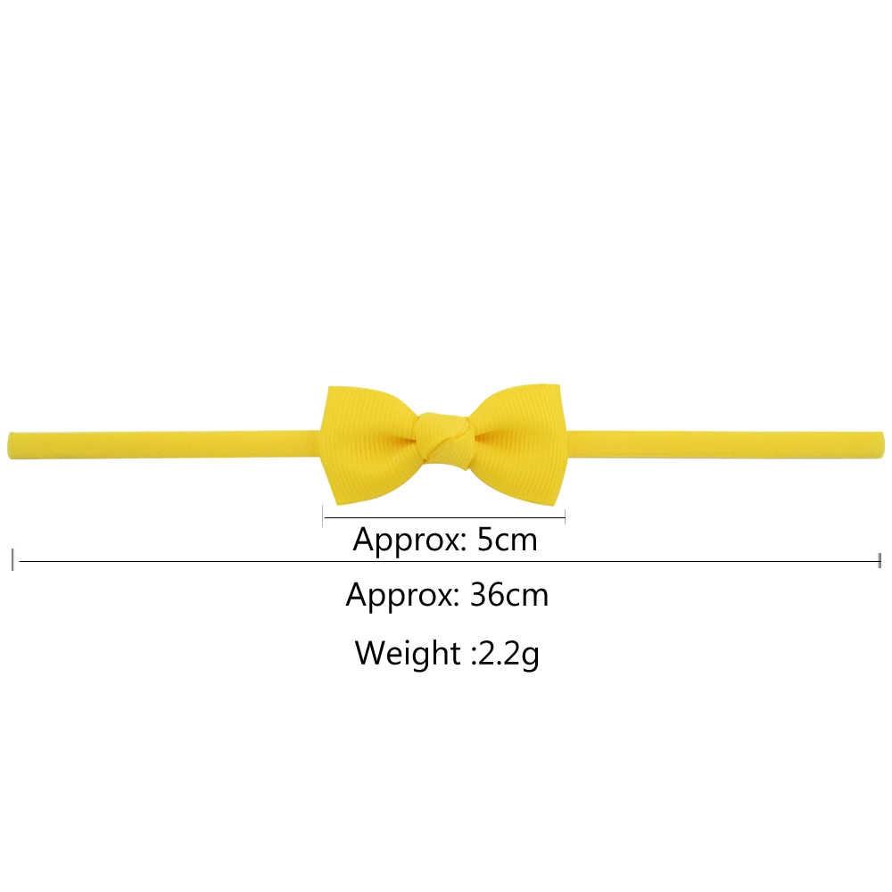 20pcs/lot 2 inch kids Small Cute Bow Tie Headband DIY Bow-knot Grosgrain Ribbon Bow Elastic Hair Bands Hair Accessories 706