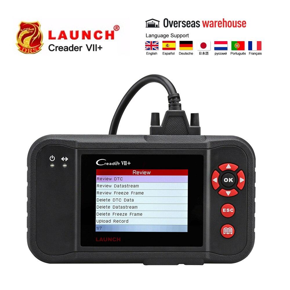Lançamento VII Creader VII Plus + CR123 X431 Auto OBDII Leitor de Código obd2 Ferramenta de Diagnóstico Scanner como CRP123 OBD2 Automotiv leitor de código de