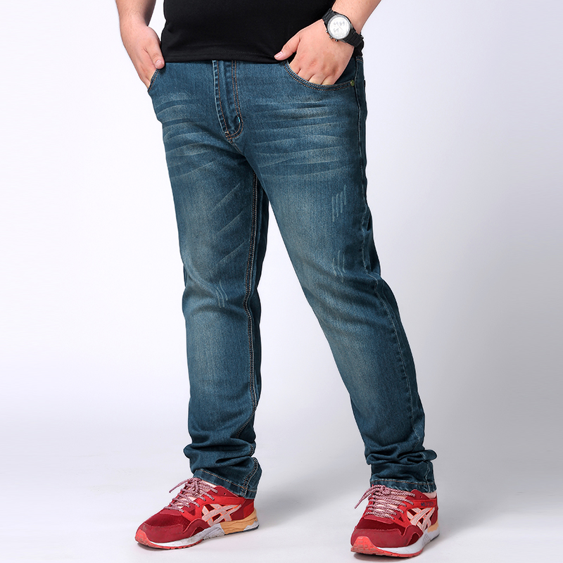 10XL 8XL 6XL 5XL 4XL 2017 New design Spring Famous Brand Men Slim Jeans male 100% Cotton Straight Pants Long denim Trousers