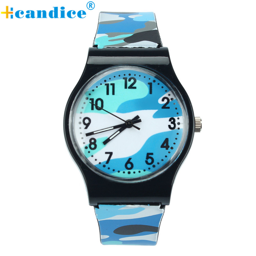 Kids and   Boys Quartz Wrist Watches   Camouflage Watch Children Girls Silicone Band Z503 new fashion design unisex sport watch silicone multi purpose date time electronic wrist calculator boys girls children watch