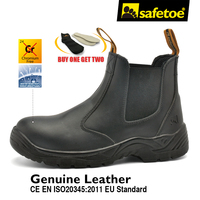 Safetoe Safety Shoes Work Boots Cow Leather Water Resistant Fast Wearing Light Weight Anti Static Mens