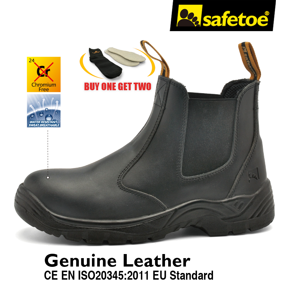 Safetoe Safety Shoes Brand Leather Mens Work Boots Work Shoes Working Safety Boots with Steel Toe