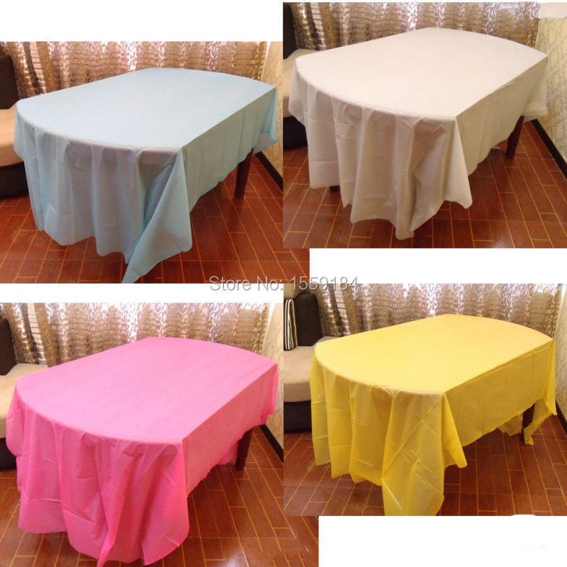 Your Choice Of Color 54 X72 Rectangle Plastic Party Table Covers