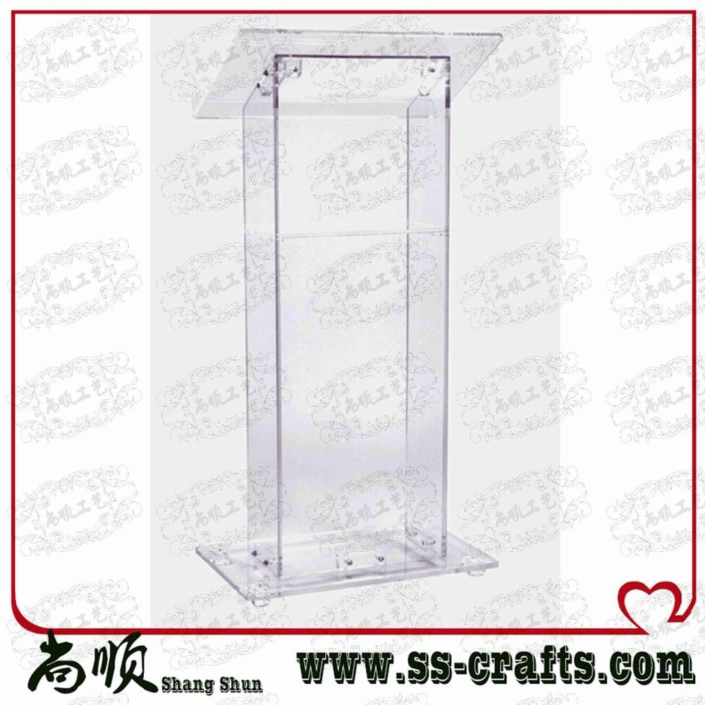 Wholesale Acrylic Podium Acrylic Church Rostrum Portable Acrylic Lectern Plexiglass