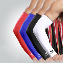 2PC Lycra Breathable UV Protection Arm Cover Running Cycling Fishing Arm Warmer Volleyball Sleeves Elbow Protection Support Pads недорого