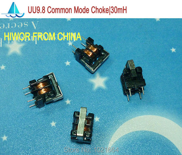 (50pcs/lot) UU9.8 30mH Common Mode Choke Inductor For Filter