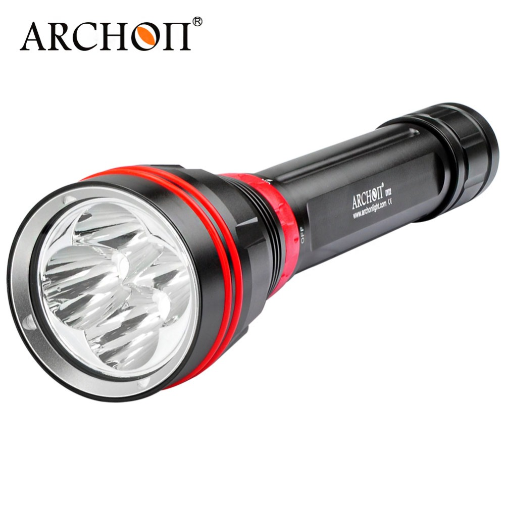 New ARCHON DY02 4000 lumens 6500k CREE XP L LED Diving Flashlight Torch Light with 26650