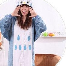 d63ed709f93b New Style Women s Owl Pattern Footed Pyjamas For Adults Full Sleeve  Microfiber Sleep Lounge Onesies Adult