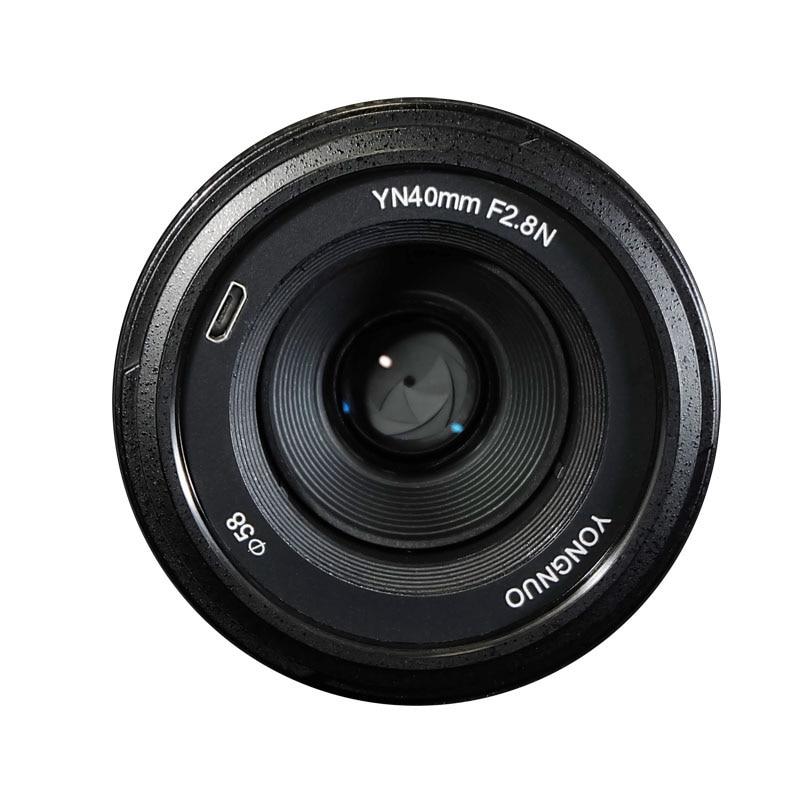 Ulanzi YONGNUO 40MM F2.8 Lens  Standard Prime AF/MF Auto Manual Focus Lente YN40mm For Nikon DSLR Cameras D7200 D5300 D750 yongnuo yn35mm af mf fixed focus camera lens f2n f2 0 wide angle f mount for nikon d7200d7100 d300 d5500 d500 dslr free lens bag
