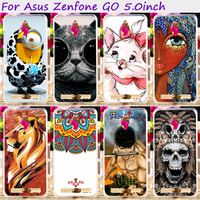 TAOYUNXI Soft TPU&Hard Plastic Cute Animal Phone Cases For Asus ZenFone Go ZC500TG zenfone Go Z00VD GoZ00VD 5.0 inch Cover Bags