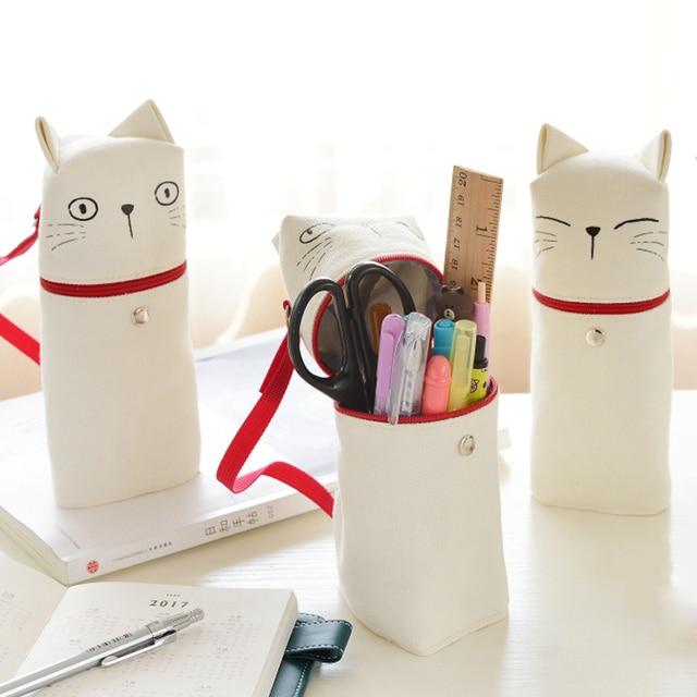 Canvas Cat Pencil Case