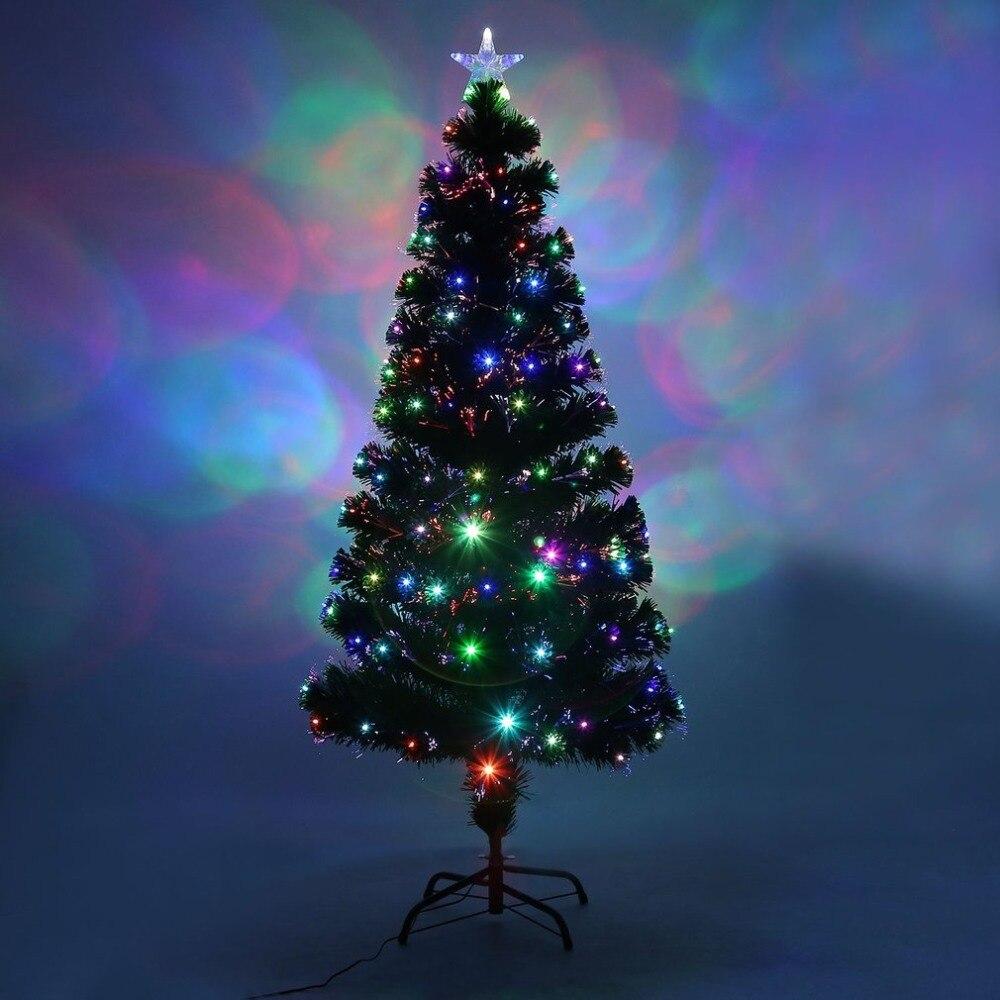 Navidad фестиваль Крытый Открытый Цвет ful светодиодный Цвет Изменение светодиодный оптоволоконный свет 1,5/2,1/2,4 MChristmas дерево для домашнего деко...