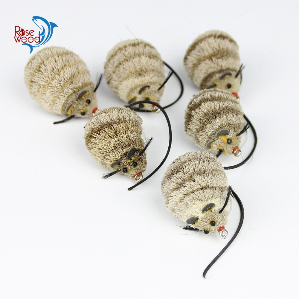 Cheap super mouse fly fishing lure set 6pcs mouse fly for Mouse fishing lure