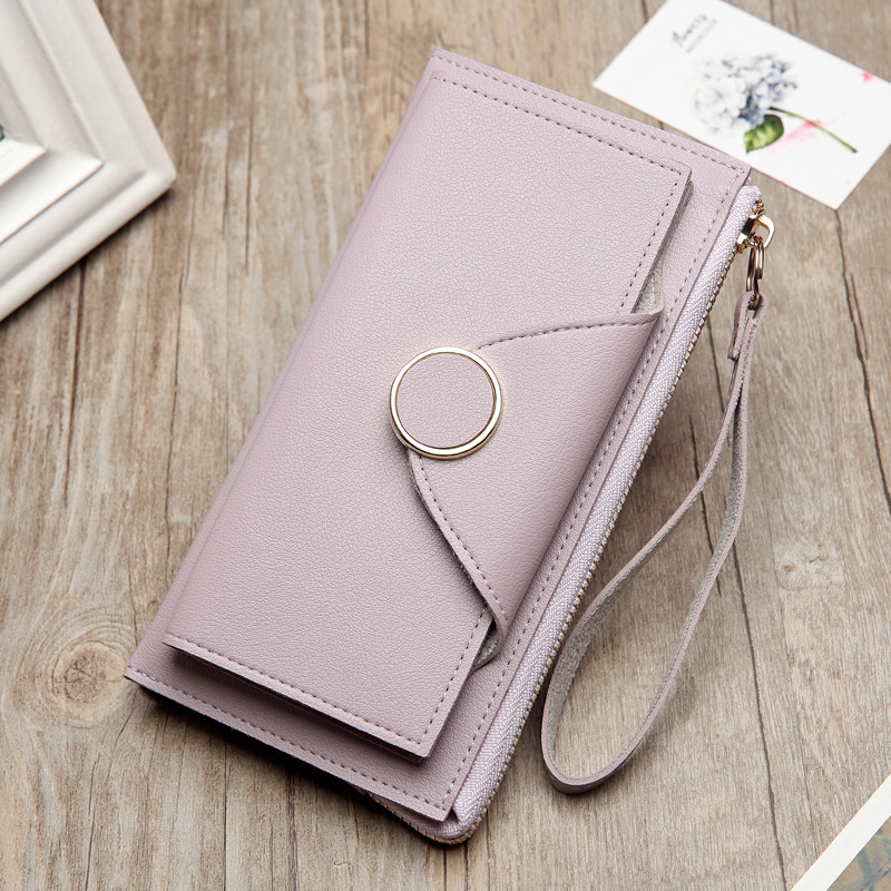Women Money Bag Purse Wallet Female Long Trifold PU Leather Coin Card New Arrival Model Hot Shopping Hipster Stylish Envelope