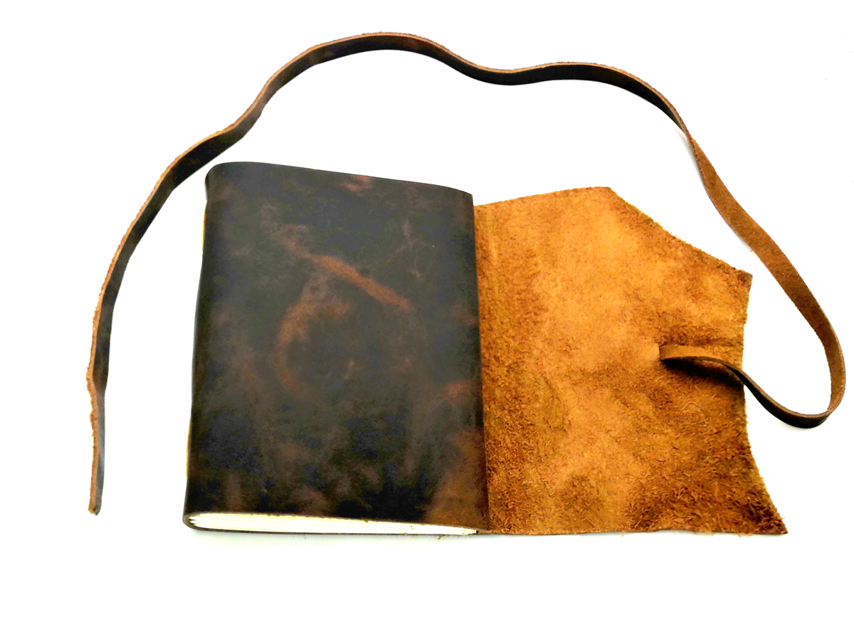 Junetree handmade Traveler's Note Book notebook black Genuine Leather Cowhide leather diary vintage