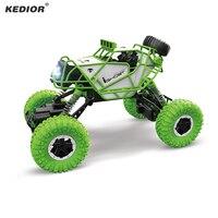 Kedior 4WD RC автомобилей 2.4 ГГц Дистанционное управление автомобиля скалолазание автомобиль 4x4 двойной Двигатели внедорожник йети Игрушечные л...
