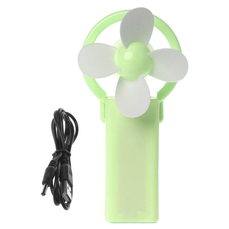 Ev Aletleri'ten Fanlar'de Mini Fan hava soğutucu el şarj edilebilir USB masaüstü taşınabilir açık seyahat Fan title=