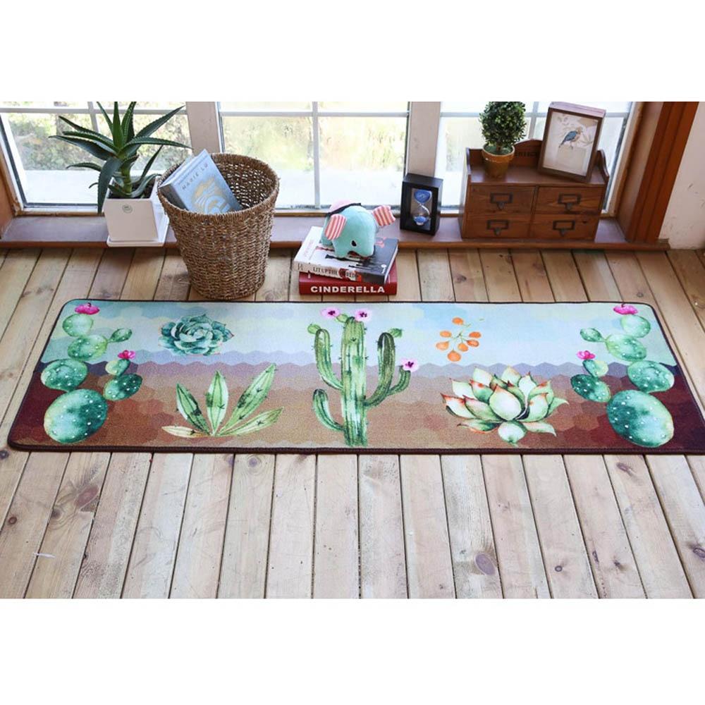 Pastoral Pintada Cactus Casa Capacho Tapete E Carpet Para Sala De  -> Tapete De Sala Pintado A Mao