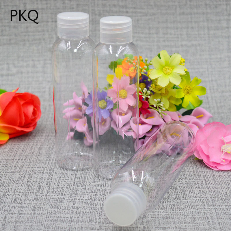 120ml 150ml 200ml PET Clear Empty Container Bottle Travel Kits Make Up Skin Care Cosmetics Lotion Storage Bottles For Packaging
