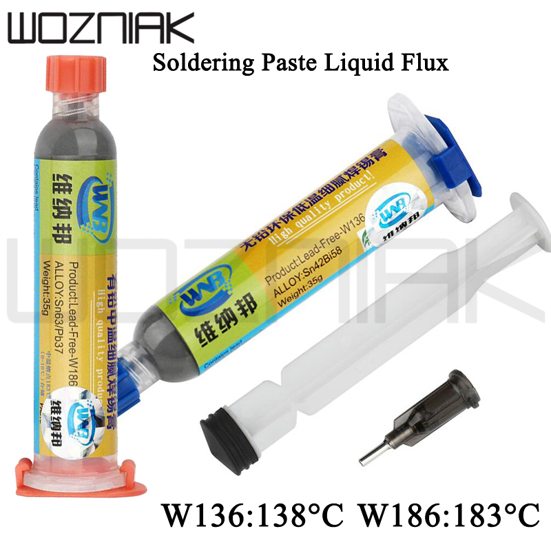 10cc Soldering Paste Liquid Flux 35g Leaded Stencil Welding Tool Low Temperature Melting Point 138C 183C Tin Solder Paste