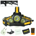 RJ-3000 Plus  3* XML T6 Headlamp Headlight Head Lamp Camping Fishing Light + 18650 battery + USB AC Charger + Bourit Retail Box