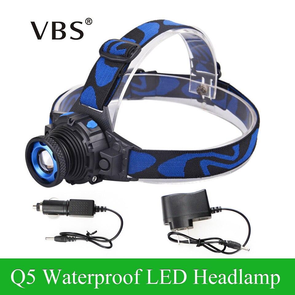 Nastavitelné světlomety Cree Q5 Vodotěsný LED světlomet 500lm Vestavěná lithiová baterie Dobíjecí 3 režimy Přizpůsobitelné + Nabíječka do auta