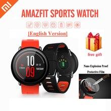 [На английском языке] оригинальный xiaomi huami amazfit gps smart watch heart rate monitor спортивные smartwatch для android ios bt 4.0 wi-fi