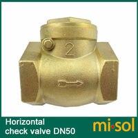 1 pcs of horizontal check valve, 2, DN50, Brass non return valve