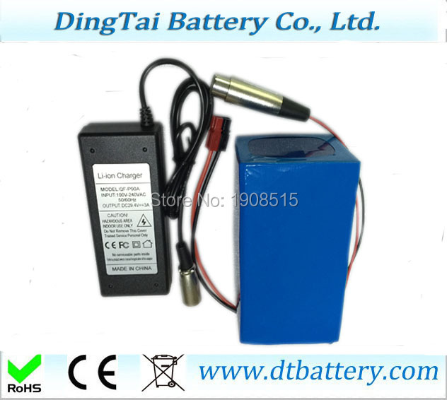 High quality 11.1v 12V 20ah li-ion battery pack free customs taxes high quality skyy 48 volt li ion battery pack with charger and bms for 48v 15ah lithium battery pack