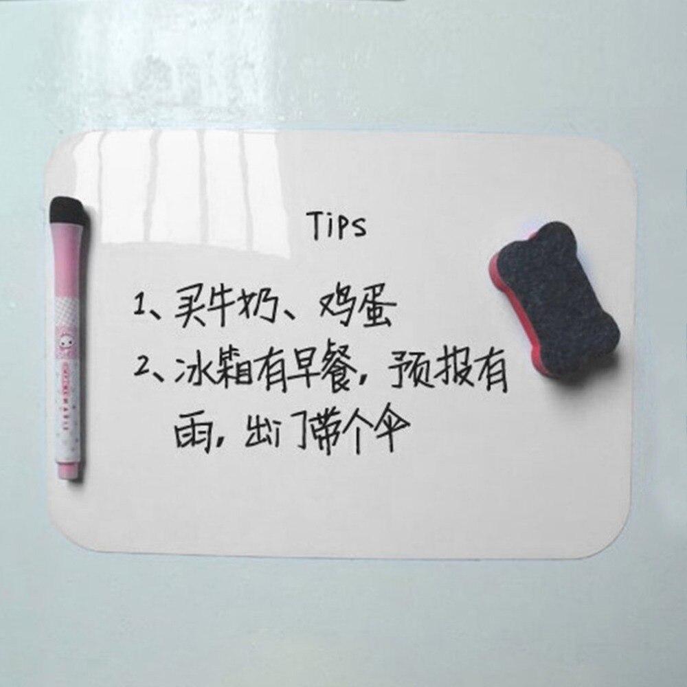 Acehe 21*15cm Waterproof Whiteboard Writing Board Magnetic Fridge Erasable Message Board Memo Pad Drawing Board Home Office