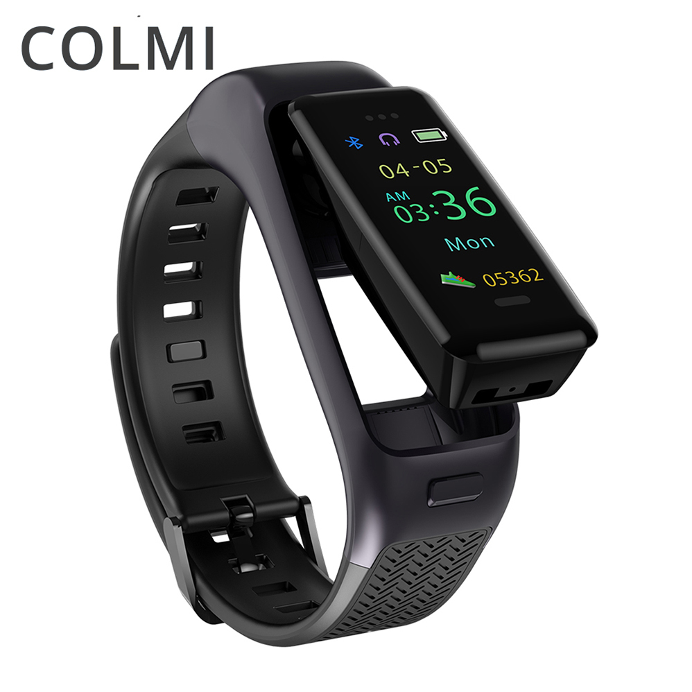 COLMI Parler Bande des Écouteurs Bluetooth Intelligent Bracelet Sport Bracelet Bracelet Bande Passometer Podomètre Mains Libres Casque