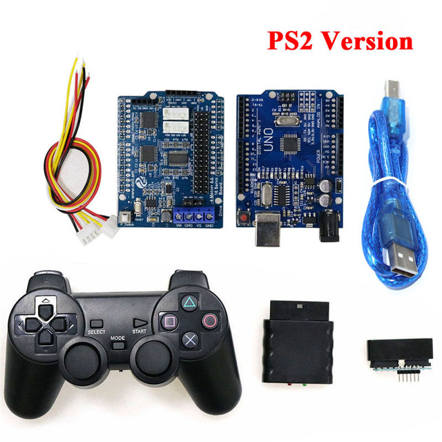 Bluetooth, WiFi, Handle Robot Car Arm Controller Kit for Arduino with UNO R3, Motor Driver Board, WiFi Module, Bluetooth Module