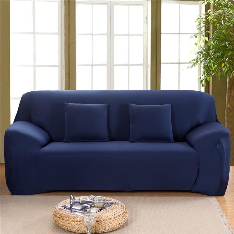 einfarbig elastische sofa abdeckung spandex moderne polyester ecke sofa couch schutzhulle stuhl protector wohnzimmer 1 2 3 4 sitzer