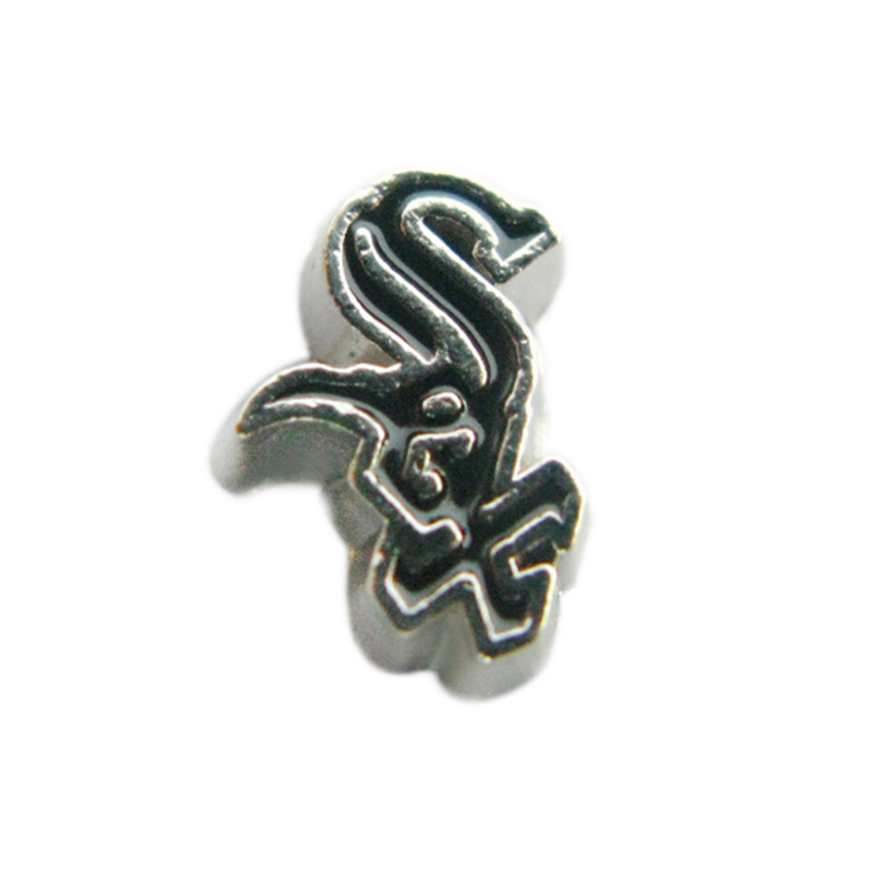 20 Pcs Chicago White Sox Charms Enamel Baseball Baseball Team Logo Locket Charms For Living Memory Locket