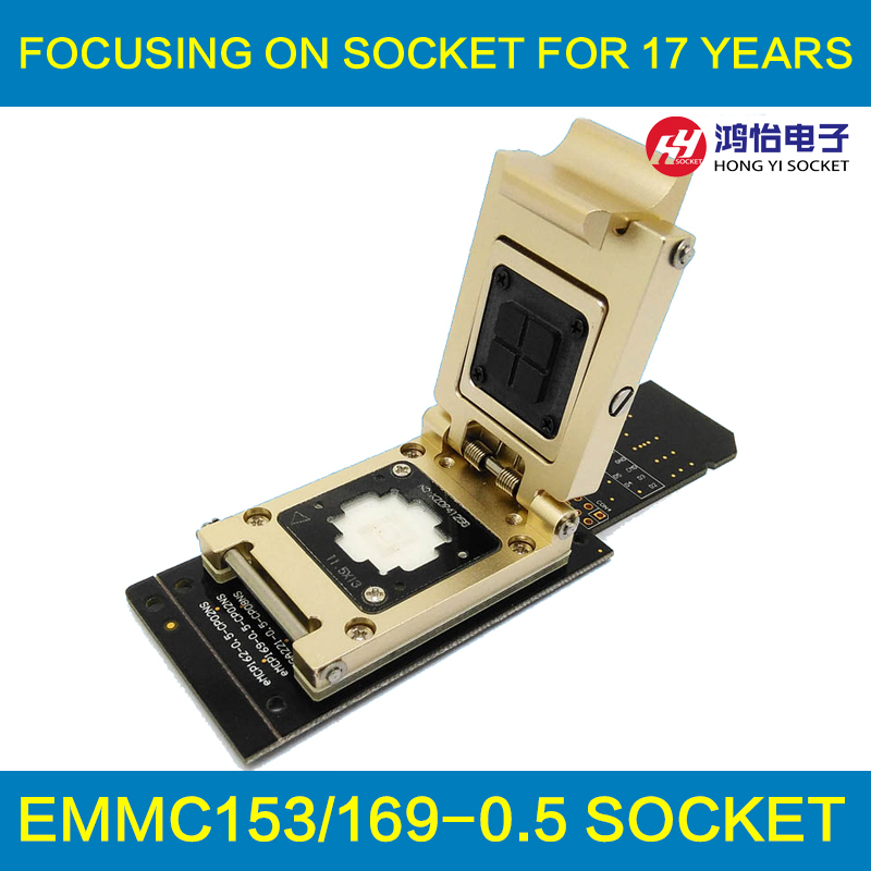все цены на eMMC test socket to SD Interface Nand flash pogo pin BGA153/169 Reader Size 11.5x13mm Pitch 0.5mm smart phone date recovery онлайн