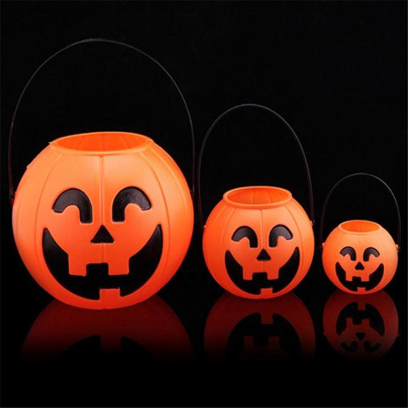 Halloween Party Performance Bar Ornament Large Middle Small Size Portable Pumpkin Pail Pumpkin canister Pumpkin lantern Anime